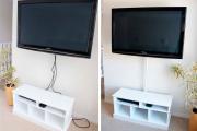 Фото 34 Как спрятать провода от телевизора на стене? Секреты, дизайнерские идеи и лайфхаки