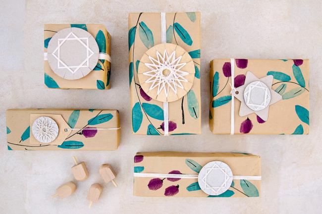 Геометрические и анималистические узоры отлично пойдут для упаковок из крафт-бумаги