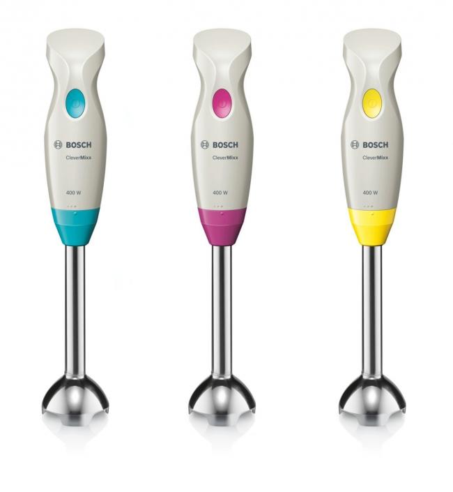 Погружной блендер Bosch MSM 2410 с эргономичной формой ручки разработан для обработки небольшого количества продуктов, например, детского питания