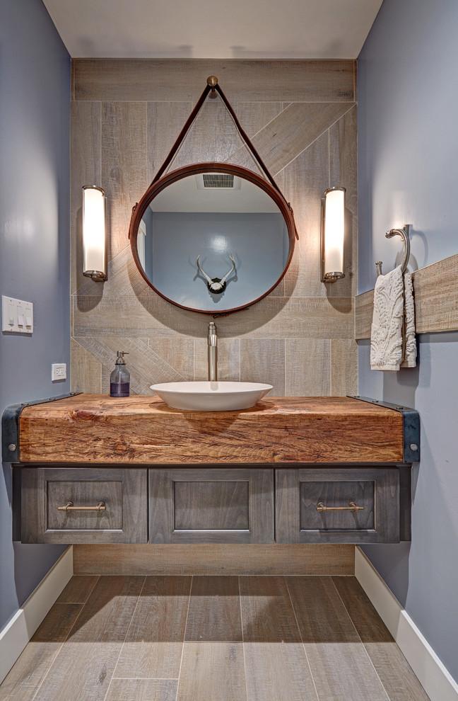 Ванная комната, оформленная в стиле кантри