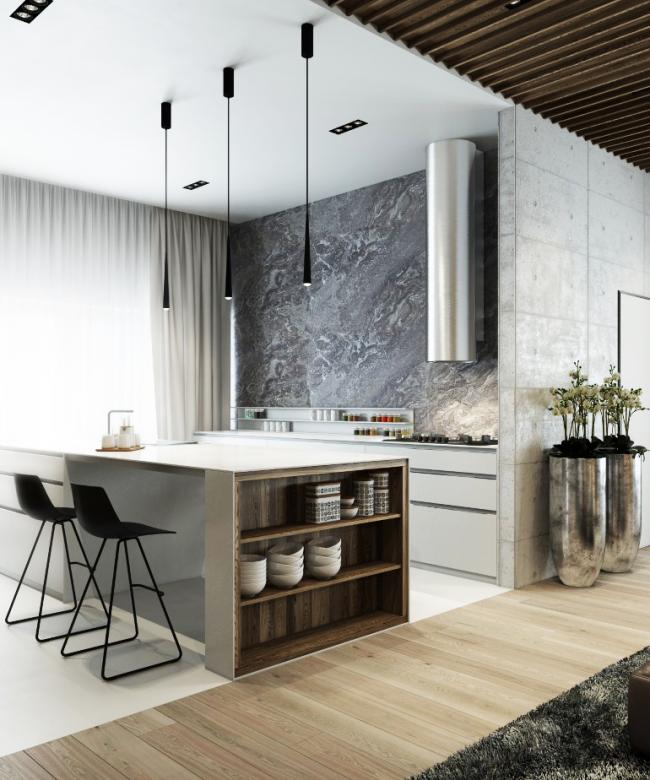 Оптимальный вариант расположения мебели в квартире-студии