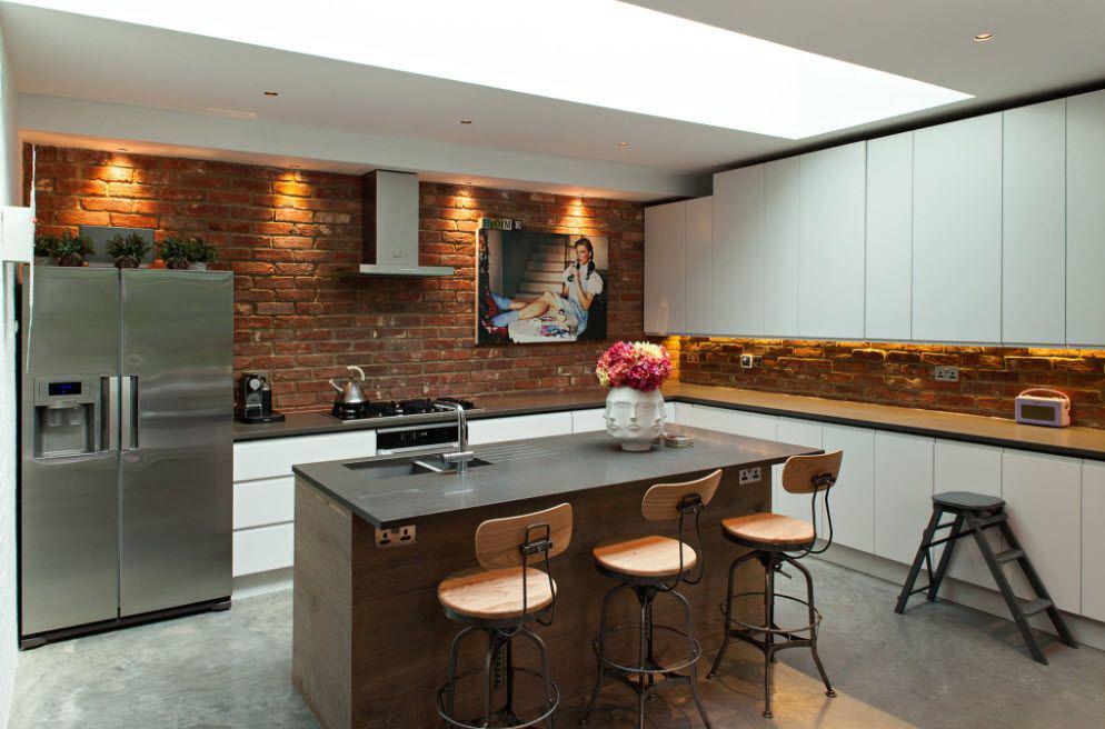Интерьер кухни 16 кв
