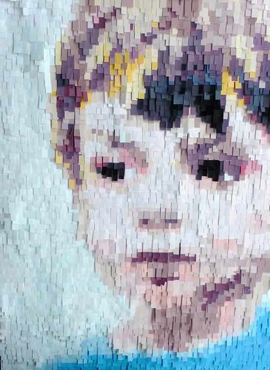 Портрет из кусочков бумаги