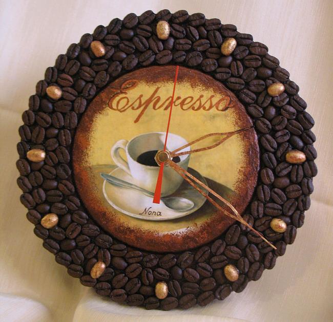 Кофейные часы для кухни
