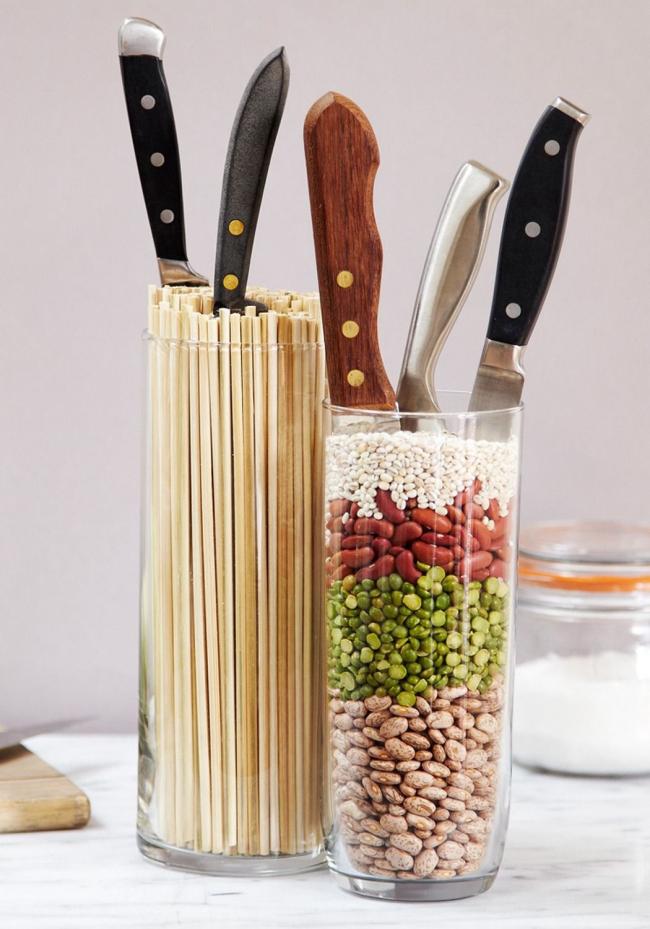 Подставка для ножей своими руками с наполнителем