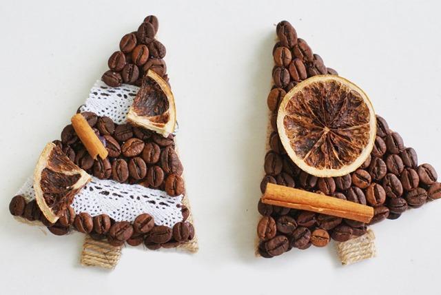 Новогодние подарки из кофейных зерен своими руками