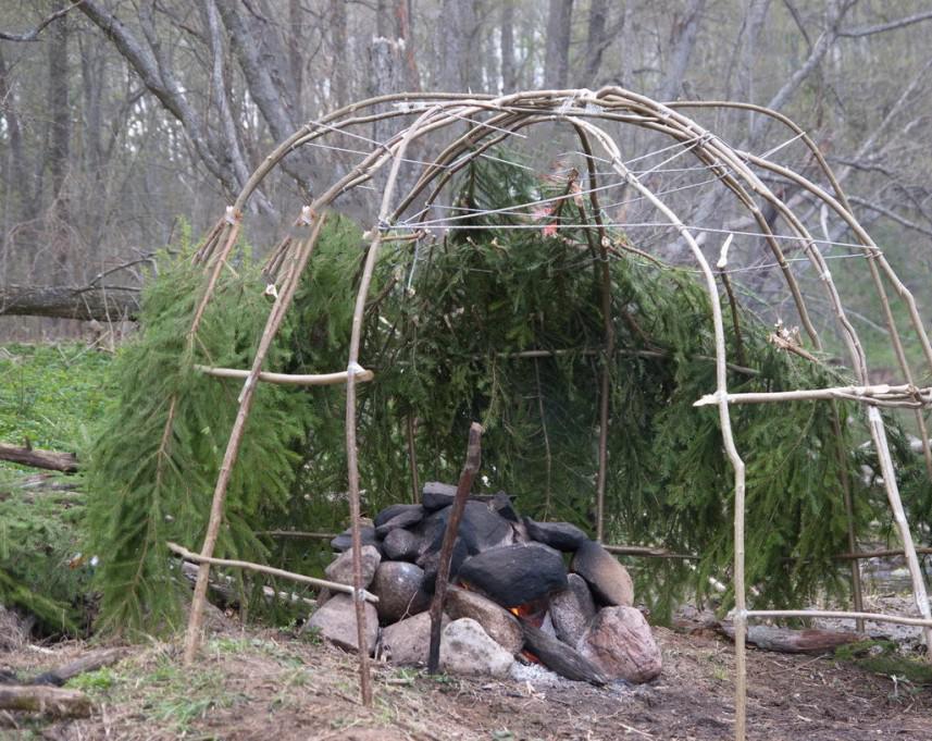 Каркас для бани палатки своими руками 34
