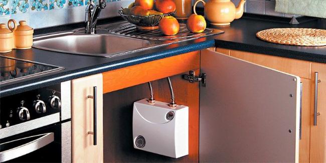 Однофазный напорный нагреватель воды проточного типа