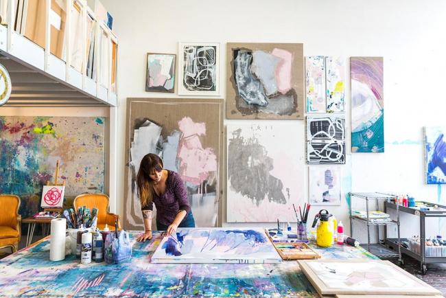 Мастерская для художника должна быть в первую очередь уютной и комфортной