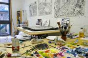 Фото 8 Создаем интерьер полноценной студии: 70 идей рабочего места художника и мастерской в доме