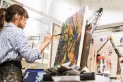 Фото 11 Создаем интерьер полноценной студии: 70 идей рабочего места художника и мастерской в доме