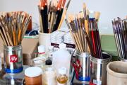 Фото 14 Создаем интерьер полноценной студии: 70 идей рабочего места художника и мастерской в доме