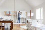 Фото 18 Создаем интерьер полноценной студии: 70 идей рабочего места художника и мастерской в доме