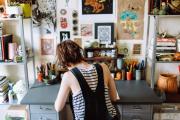 Фото 19 Создаем интерьер полноценной студии: 70 идей рабочего места художника и мастерской в доме