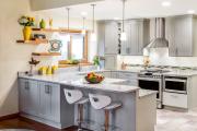 Фото 1 Серая кухня IKEA: популярные модели и дизайнерские варианты обустройства интерьера