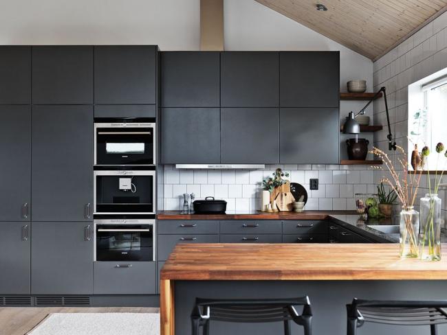 дизайн кухни икеа в интерьере серая кухня Ikea популярные модели и