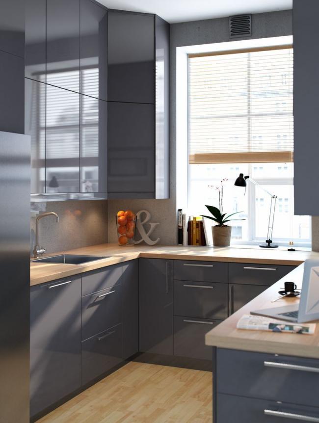 Стильная и удобная мебель для малогабаритной кухни