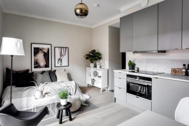 Малогабаритный мебельный гарнитур для квартиры - студии