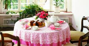 Скатерть на круглый стол: избранные идеи для интерьера, стили и особенности материалов фото