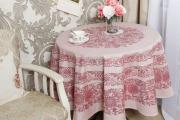 Фото 19 Скатерть на круглый стол: избранные идеи для интерьера, стили и особенности материалов