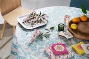 Фото 33 Скатерть на круглый стол: избранные идеи для интерьера, стили и особенности материалов