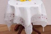 Фото 6 Скатерть на круглый стол: избранные идеи для интерьера, стили и особенности материалов