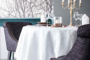 Фото 9 Скатерть на круглый стол: избранные идеи для интерьера, стили и особенности материалов