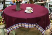 Фото 12 Скатерть на круглый стол: избранные идеи для интерьера, стили и особенности материалов