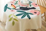 Фото 18 Скатерть на круглый стол: избранные идеи для интерьера, стили и особенности материалов