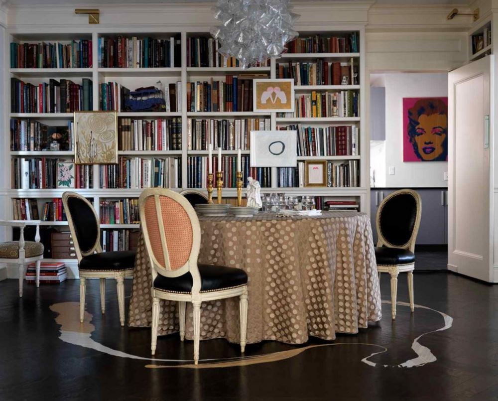 Cкатерть на круглый стол 60 практичных дизайнерских вариантов