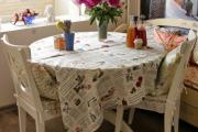 Фото 26 Скатерть на круглый стол: избранные идеи для интерьера, стили и особенности материалов
