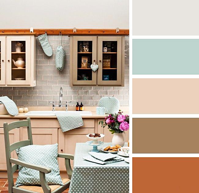 Приглушенные теплые оттенки мяты и кофе идеальны для интерьера в ретро-стиле