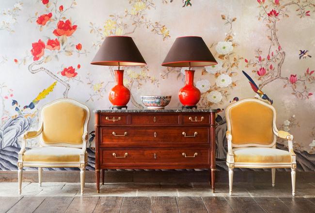 Стиль шинуазри: обзор лучших идей на стыке рококо и традиционных китайских интерьеров