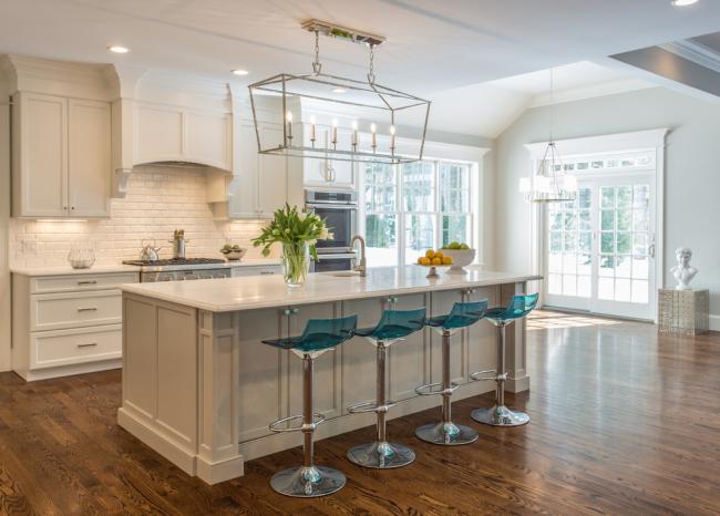 Кухонный остров в стиле эклектик