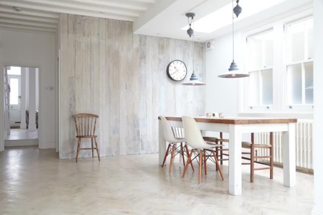 Проект столовой с интерьером в стиле лофт