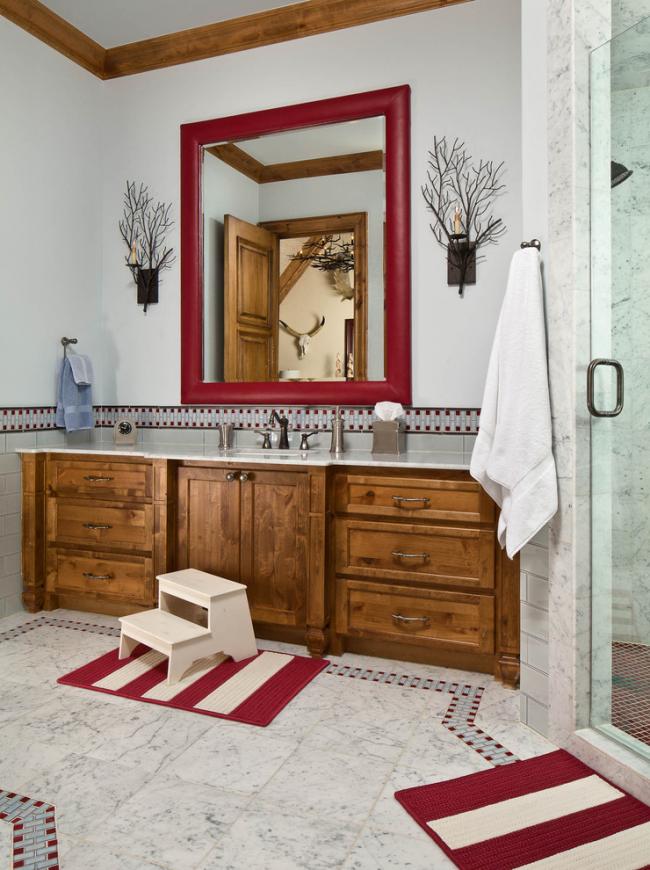 Ванная комната в стиле эклектик