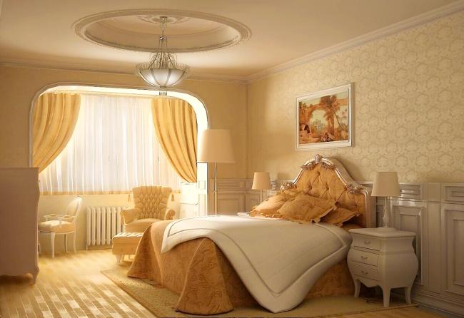 Шелковые обои для уютной спальни