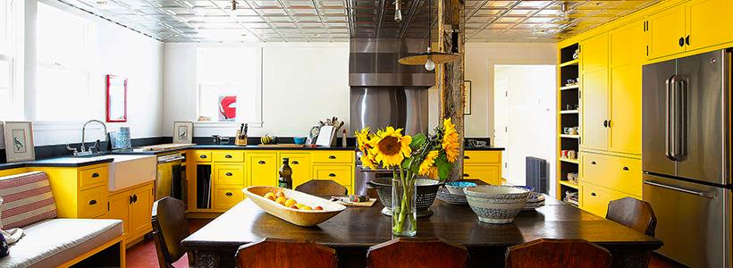 Теплая охра и сочный лимон: 60+ восхитительных идей для дизайна кухни желтого цвета