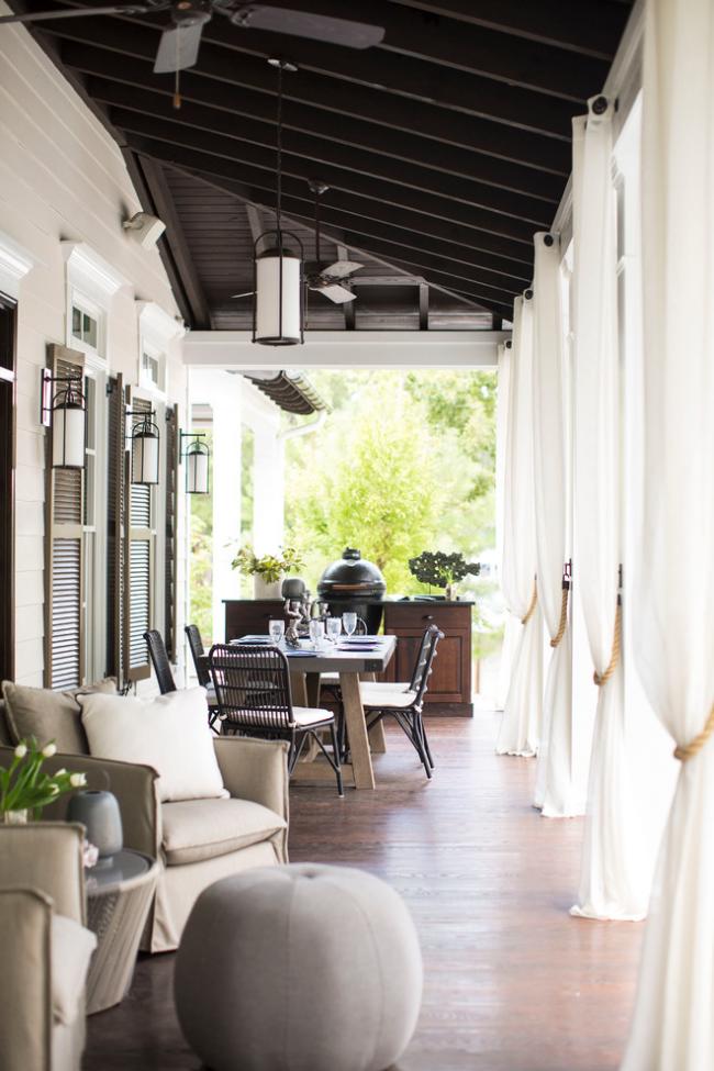 Дизайн уютной террасы с элементами стиля прованс