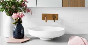 Раковина в ванную комнату (65+ моделей в интерьере): обзор современных материалов и как не ошибиться с размерами? фото