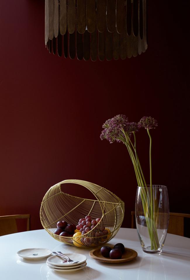 Интересное и стильное решение для современной столовой