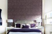 Фото 1 Бело-фиолетовая спальня: советы дизайнеров по гармоничному сочетанию оттенков