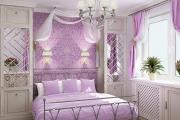 Фото 21 Бело-фиолетовая спальня: советы дизайнеров по гармоничному сочетанию оттенков
