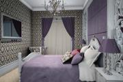 Фото 24 Бело-фиолетовая спальня: советы дизайнеров по гармоничному сочетанию оттенков