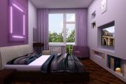 Фото 15 Бело-фиолетовая спальня: советы дизайнеров по гармоничному сочетанию оттенков