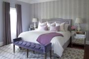 Фото 16 Бело-фиолетовая спальня: советы дизайнеров по гармоничному сочетанию оттенков