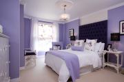 Фото 28 Бело-фиолетовая спальня: советы дизайнеров по гармоничному сочетанию оттенков