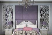 Фото 18 Бело-фиолетовая спальня: советы дизайнеров по гармоничному сочетанию оттенков
