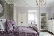 Фото 20 Бело-фиолетовая спальня: советы дизайнеров по гармоничному сочетанию оттенков