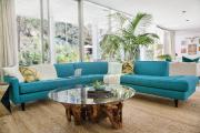 Фото 4 Бирюзовый диван в интерьере: 60+ фотоидей потрясающих вариантов мебели в цвете Тиффани